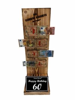 * Happy Birthday 60 Geburtstag - Die Eiserne Reserve ® Mausefalle Geldgeschenk - Die ausgefallene lustige witzige Geschenkidee - Geld verschenken - 1