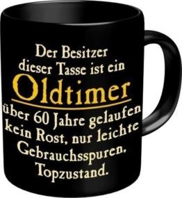 Rahmenlos 914742 Funtasse Fun Spaßtasse mit Aufdruck - Oldtimer 60 - 1