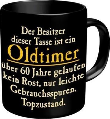 Rahmenlos 914742 Funtasse Fun Spaßtasse mit Aufdruck – Oldtimer 60 -