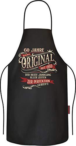 RAHMENLOS Grillschürze Kochschürze Küchenschürze als Geschenk zum 60.Geburtstag - 1