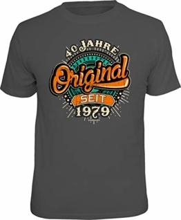 RAHMENLOS Original Geschenk T-Shirt zum 40. Geburtstag: Original 40 Jahre XXL - 1