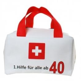 TASCHE 1. HILFE FÜR ALLE AB 40 GESCHENKARTIKEL 40. GEBURTSTAG DEKO ZUM BEFÜLLEN - 1