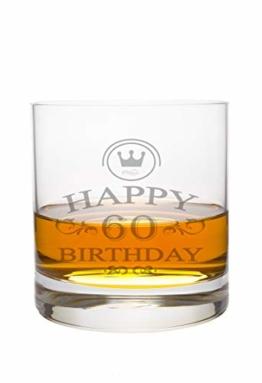 Whiskeyglas Leonardo mit 60 Jahre Gravur - Geburtstag Geschenk Geschenkidee Whisky-Glas graviert - 1